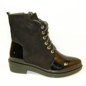 Ботинки женские черные Д487