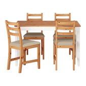 Стол и 4 стула серии Лерхамн