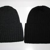 шапки мужские с отворотом на флисе серая черная синяя