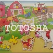 Деревянная рамка-вкладыш Домашние животные MD 0009