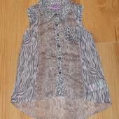 Красивая шифоновая блузка F&F для девочки 5-6 лет, 110-116 см