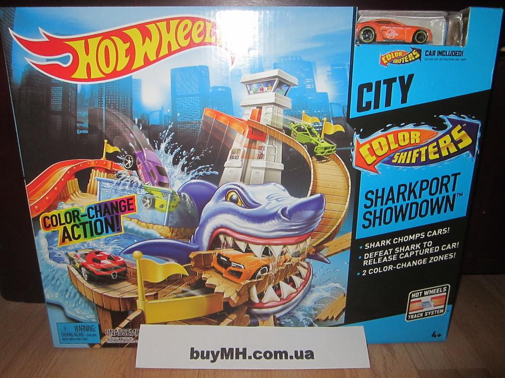 Трек хот вилс порт акула измени цвет hot wheels color shifters sharkport showdown фото №1