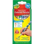 Деревянные карандаши для малышей треугольной формы 8 цветов   crayola my first easy-grip colored pen