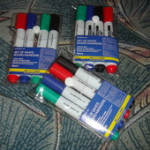 Маркеры для магнитных досок мольбертов набор 4 цвета Buromax