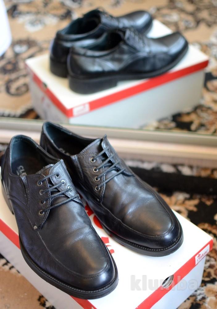 Отличные черные кожаные мужские туфли 41 размера фото №1