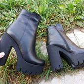 Новинка ! Женские сапоги ботинки ботильоны .Замш и кожа