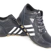 Мужские зимние кожаные ботинки adidas