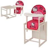 Виваст Хелов Кити mv 100k стульчик для кормления трансформер Vivast деревянный Hello Kitty