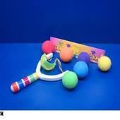 Рогатка K051-6 с поролон. цветными шариками
