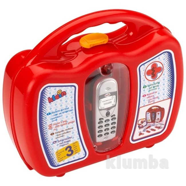 Набор доктора с мобильным телефоном 15 предметов klein 4350, германия фото №1