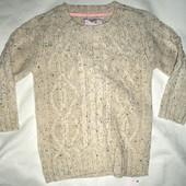 теплый свитерок на девочку и на мальчика 3-4 и 5-6л