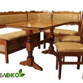 Кухонный уголок со столом и стульями из дерева, Кухонный уголок № 2