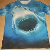 Крутая 3D футболка с живой акулой