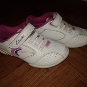 Кожаные кроссовки Clarks 25р