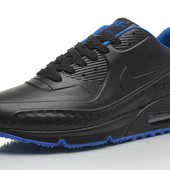 Кроссовки Nike Air Max 90 First Leather black blue