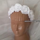 Роскошный венок из белых роз