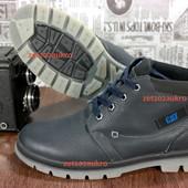 Мужские Зимние ботинкии CATerpillar стиль, очень крепкая кожа, теплый мех и прочная подошва! Тсиние