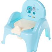 """Детский горшок-кресло Tega """"Кот и пес""""высокая спинка!"""