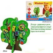 Деревянная шнуровка-бусы Фруктовое дерево