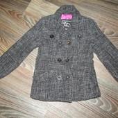 Пальто для девочки рост 116-122см