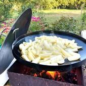 Сковорода для жарки на костре из диска 40 см, 50 см