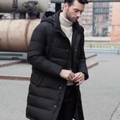 Зимняя куртка-пальто с отстёгивающимся капюшоном. Размеры: м,л,хл (2з