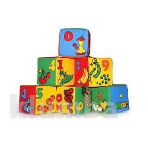 Кубики мягкие цифры 6 шт 026 фото №1