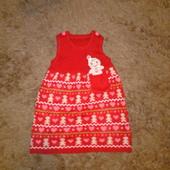 Платье сарафан George 12-18 месяцев размер 80-86