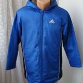 Куртка теплая спортивная капюшон Adidas р.М UK 30-32 №4064а