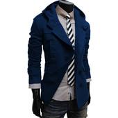 Стильное кашемировое пальто c капюшоном Blue
