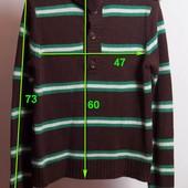 Коричневый свитер в полоску Marvin sports р.S