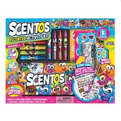Scentos ароматный набор для творчества забавная компания маркеры воск карандаши наклейки раскраски фото №1