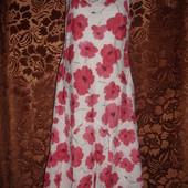 Фирменное хлопчатобуажное платье на 50 размер в маках