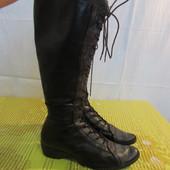 Продам кожаные сапоги-ботинки