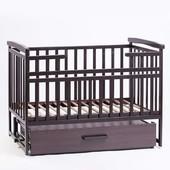 Кроватка Детский Сон с маятником и ящиком венге