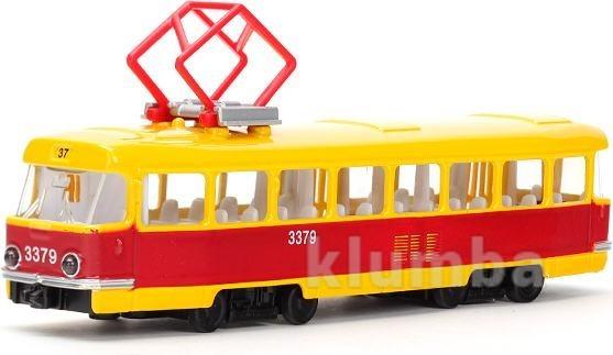 Модель технопарк городской трамвай (свет, звук) (ct12-463-2) фото №1