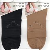 Носки женские с 2-ной пяткой и стопой Ирина - только чёрные