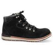 Ботинки из натуральной кожи черного цвета утепленные