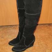 Обалденные замшевые сапоги Elite by Monarch 40 размер