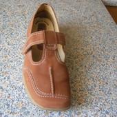 Мокасины туфли нубук 24,5см стелька