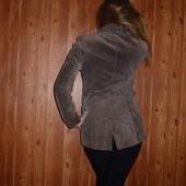 Замшевый кожаный удлиненный пиджак