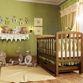 Детская кроватка WoodMan Teddy, с маятниковым механизмом поперечного качания, с ящиком, шоколад