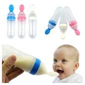 Детская силиконовая бутылочка-ложка для введения прикорма!!!