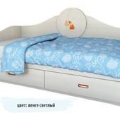 Гарантия 2 года! Детский диван 2 ящика 90x190 см, декор на выбор, укр. производство