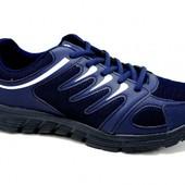Синие мужские кроссовки на шнуровке 513-3 син