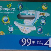 Pampers Active Baby Dry Giant Box 4 размер  99 штук , 470 грн.