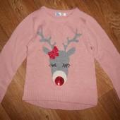 Теплая,красивая свитер,кофта M&Co на девочку 7-8лет.122-128см.