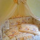 Детское сертифицированное постельное белье в кроватку ,8 предметов