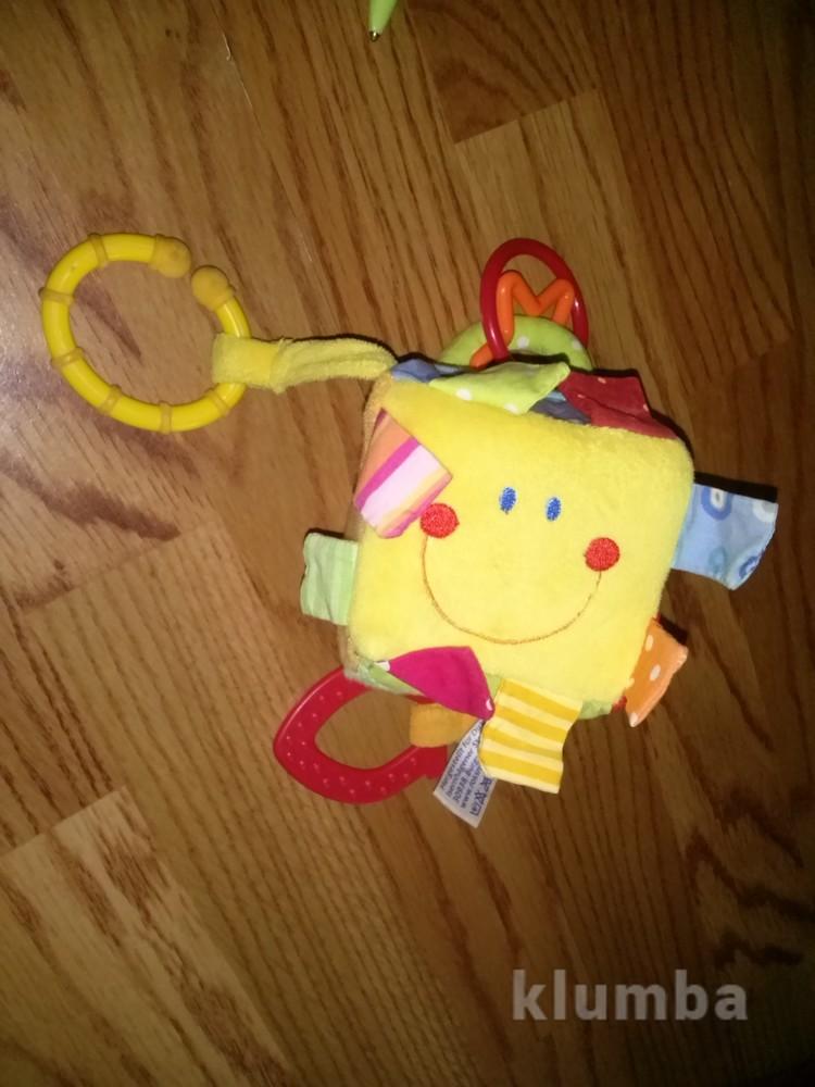 Мягкий подвесной кубик колокольчик фото №1