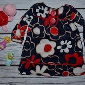 3 - 6 месяцев Красивое мягкое натуральное платье сарафан для девочки в цветы